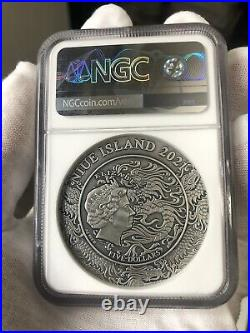 NGC MS70 2021 Ancient Chinese Warrior Beauties QIAO Sisters 2oz Silver Coin