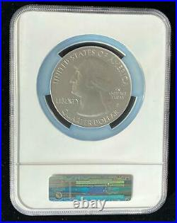 NGC SP70 EARLY RELEASE 2010 YELLOWSTONE 5oz SILVER AMERICA THE BEAUTIFUL ATB 25c