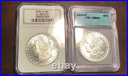 Ngc Ms63 1880 S Icg Ms64 1885 O Morgan Dollar 2 Coins Great Luster Beautiful