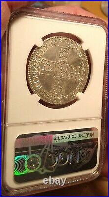 Ngc Uncirculated 1698 Great Britain Halfcrown William-beautiful Lustrous Pl Coin