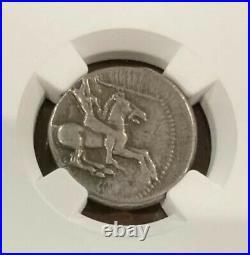 RARE 490-475 BC Gela Sicily SILVER Didrachm! NGC VF! Beautiful Sicilian Coin