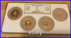 Russia 1995 Set 4 Gold Coins Ballet Sleeping Beauty Ngc Pf 69 Ultra Cameo