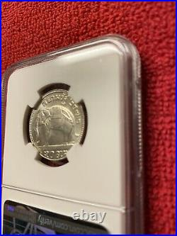 Thailand Coin (1929) BE2472 1/2 Baht NGC MS 64 Beautiful Coin