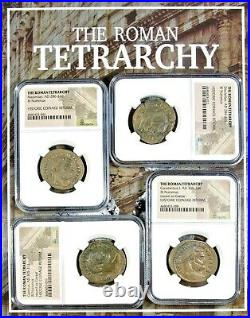 The Roman TetrarchyA Collection of Four NGC-Slabbed Coins With Beautiful Box