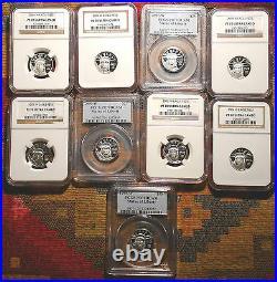 Top Graded Nine Coin Set Platinum Eagle Beauties Pcgs Pr70 Ngc Pf70 Kea Years