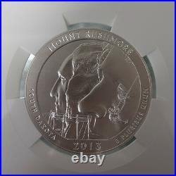 US2013 ATB Mount Rushmore Quarter America the Beautiful 5oz Silver Coin NGC SP69