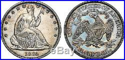 US 1885 Seated Liberty Half Dollar Silver Proof Coin RARE NGC PF 61 Toned Beauty